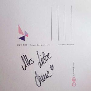 Autogrammkarte Anne Eck