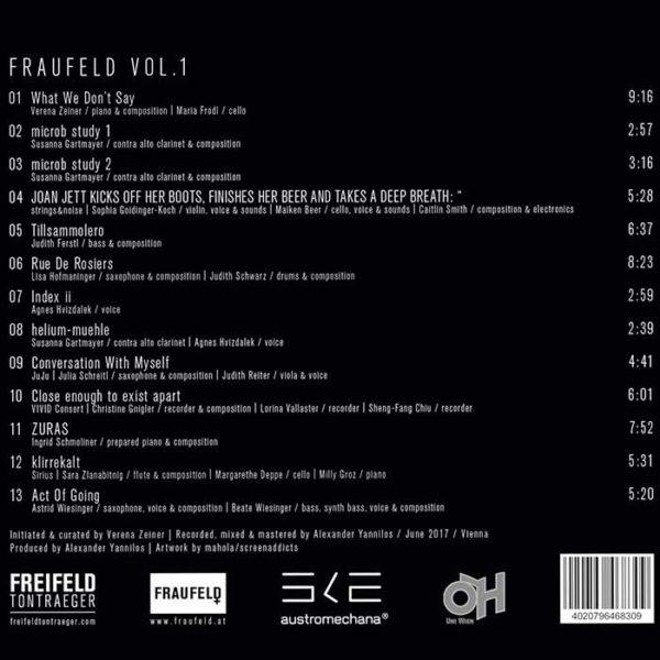 Fraufeld Vol. 1 CD Cover hinten
