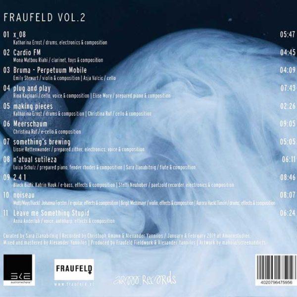 Fraufeld Vol. 2 CD Cover hinten