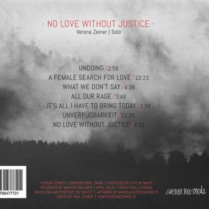 Verena Zeiner No Love Without Justice Tracklisting