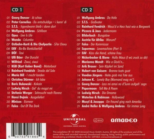 50 Jahre Austropop Tracklist