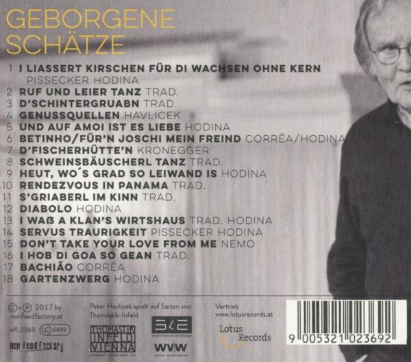 Geborgene Schätze CD Tracklisting