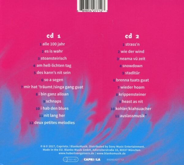 Hubert von Goisern CD Tracklisting
