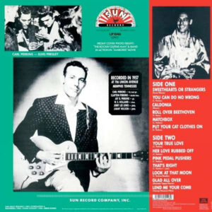 Carl Perkins Sun LP Tracklisting