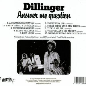 Dillinger CD Tracklisting