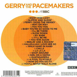 Gerry and the Pacemakers BBC Tracklisting